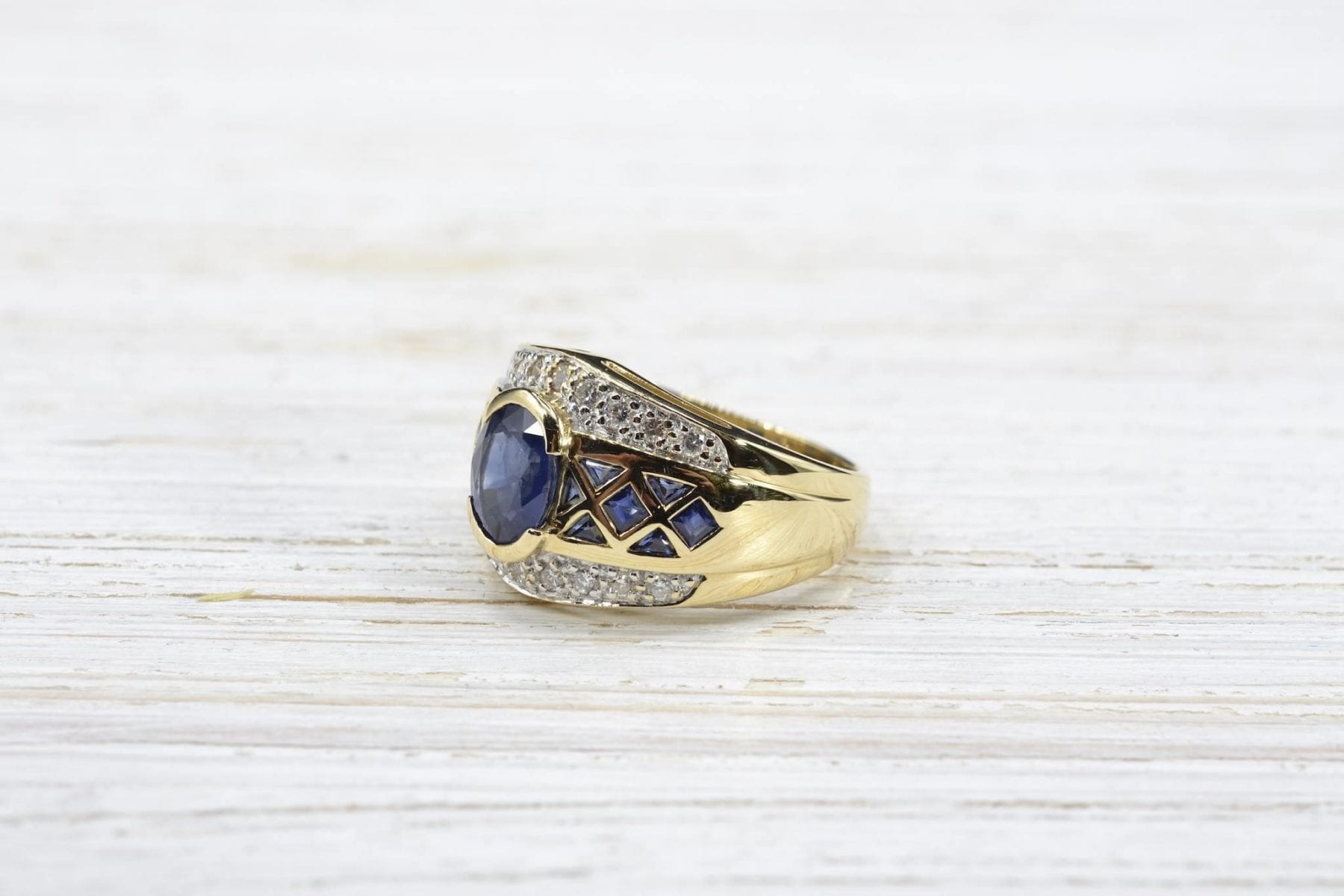 calibrated sapphire ring