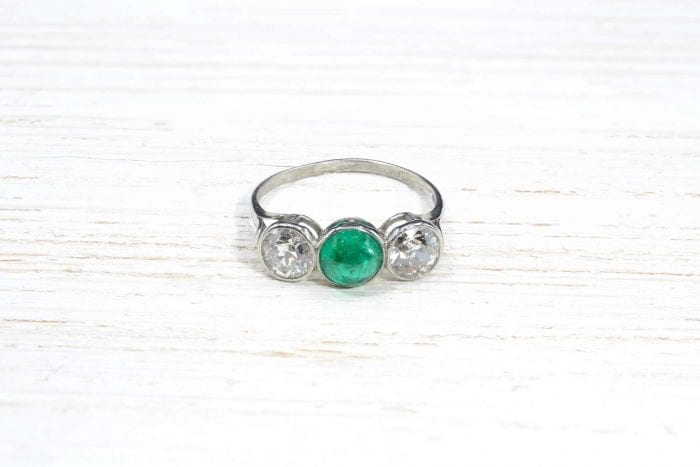 trilogy emerald and diamonds ring