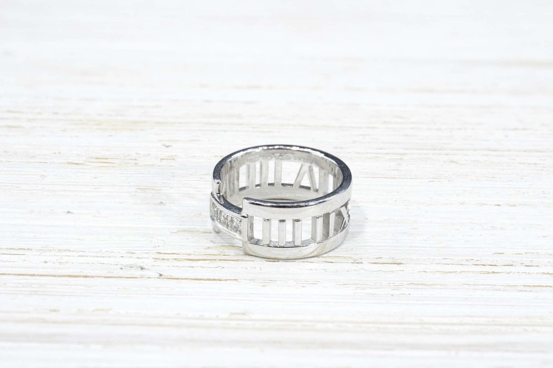 White gold ring signed Tiffany & Co.
