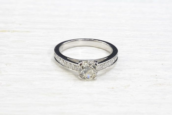 1,02 carats diamond solitaire ring