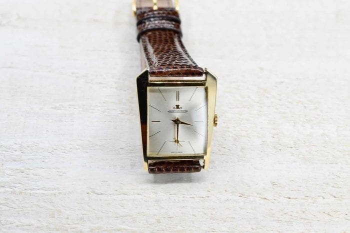 Jaeger LeCoultre watch in 18k yellow gold
