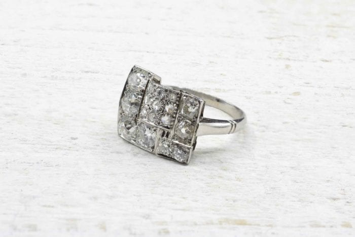 Platinum vintage diamond ring