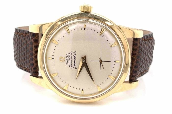 Omega Seamaster watch in 14k yellow gold