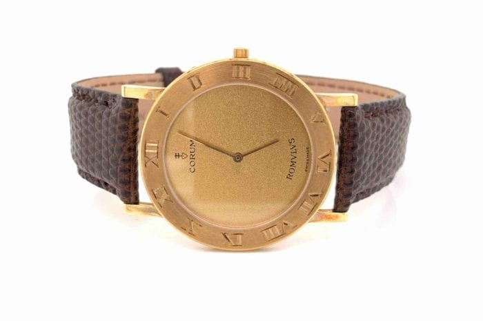 Corum Romvlvs watch in 18k yellow gold