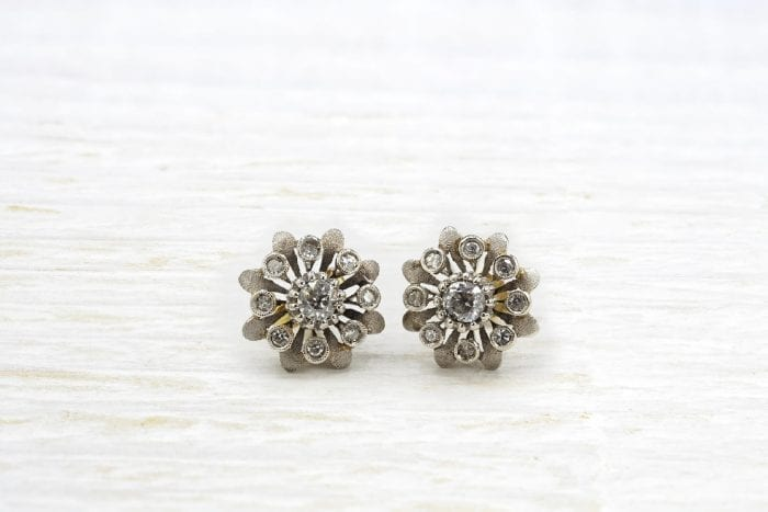 Antique gold diamonds earrings