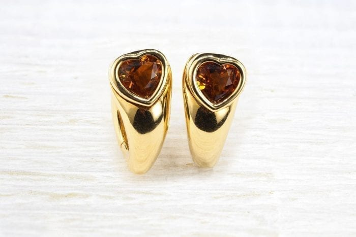 Piaget citrine earrings in 18k yellow gold