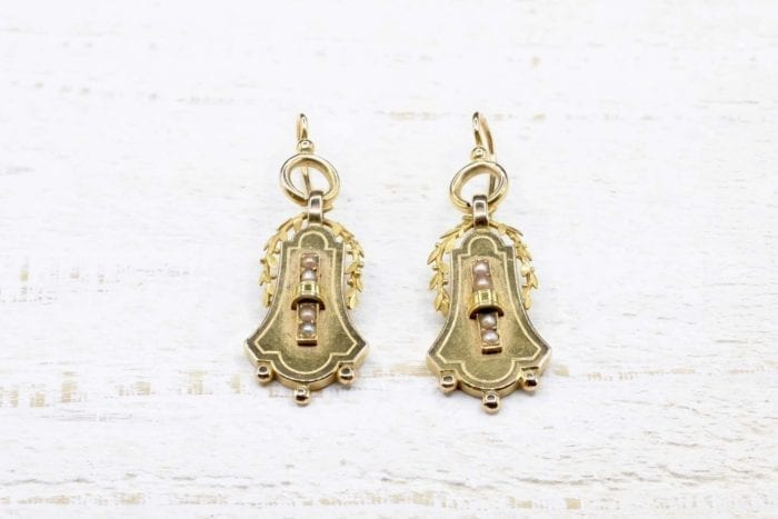 Napoleon III earrings in 18k yellow gold