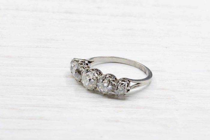 Platinum diamond garter ring