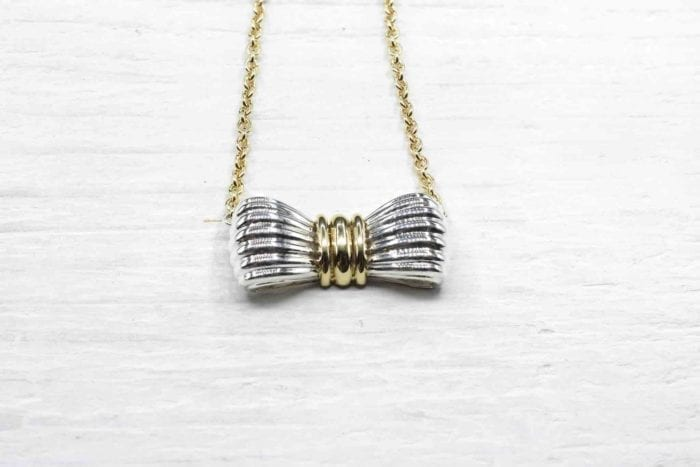 OJ Perrin necklace in 18k yellow gold and silver