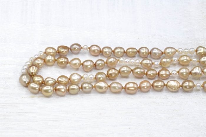 18k gold cultured pearl necklace