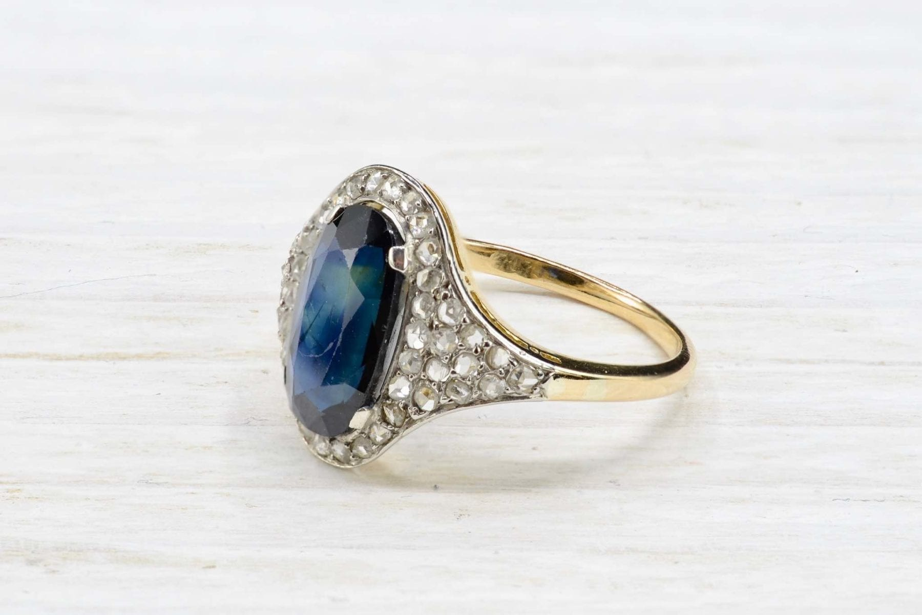 antique sapphire and diamonds ring