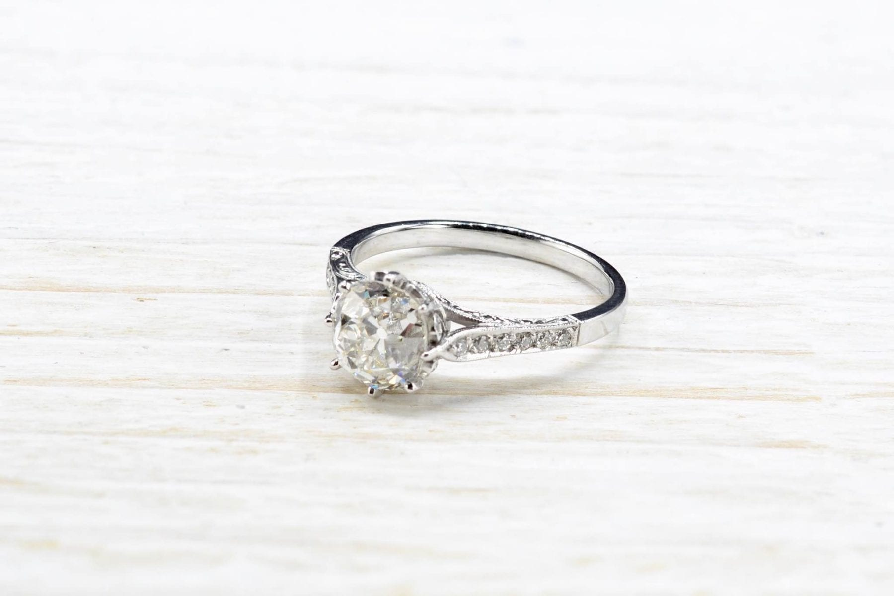 Antique diamond solitaire