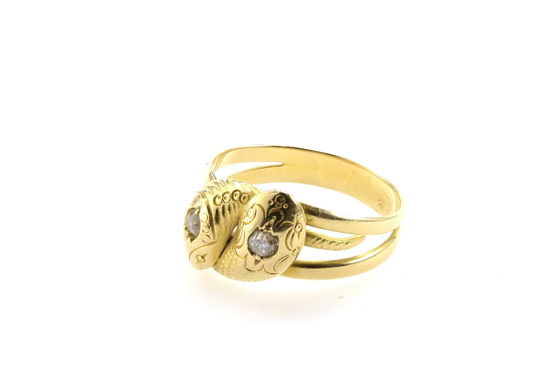 Bague serpents diamants