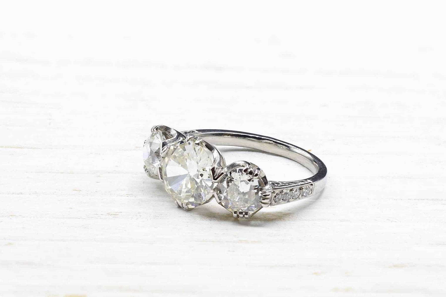Bague trilogie diamants - 21677