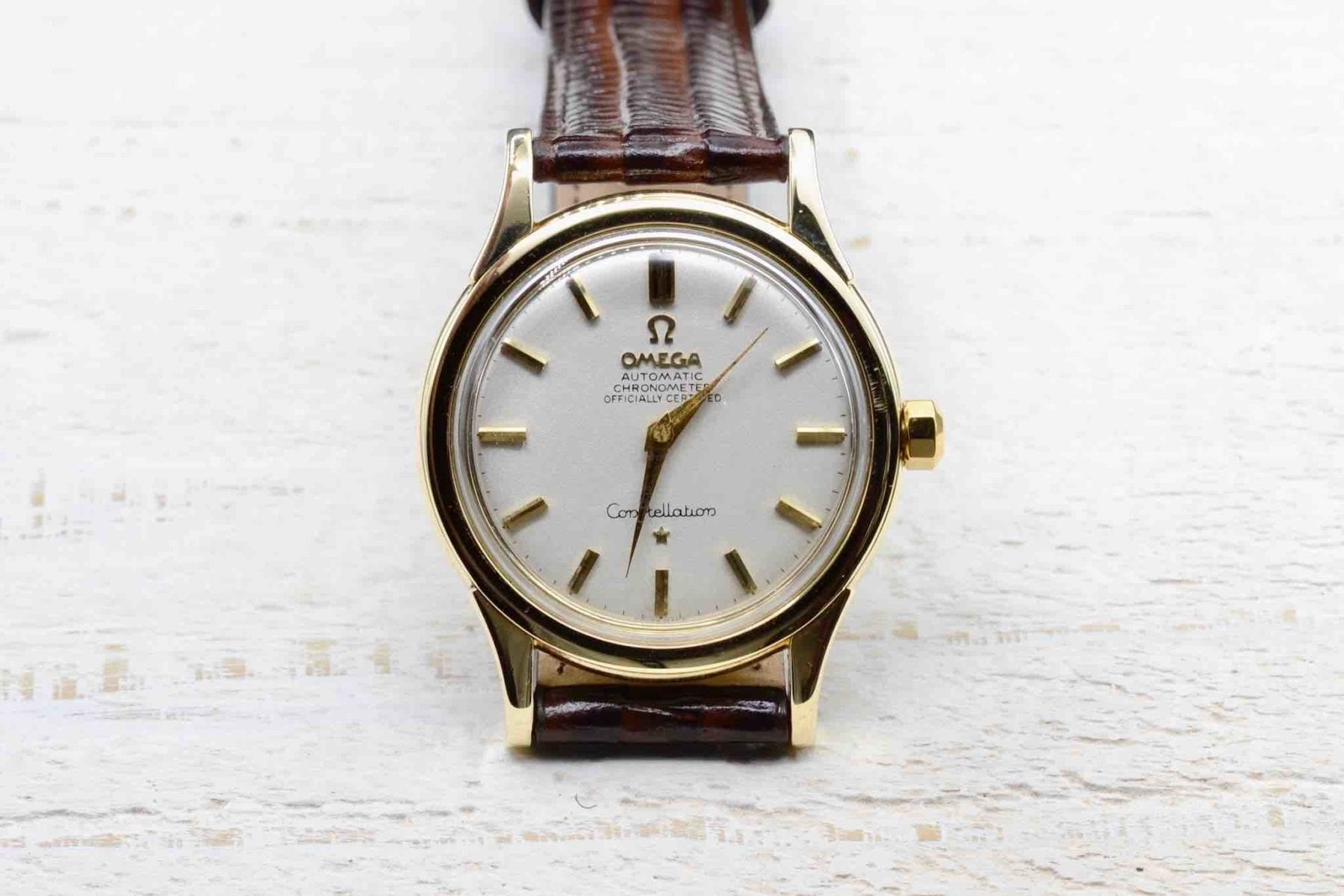 Omega Constellation watch in 14k yellow gold